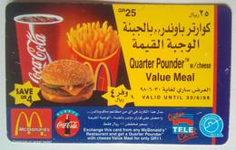 Qatar QR 25 McDonalds Quarter Pounder - Qatar