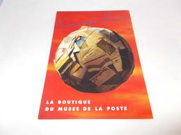CP PUBLICITE  LA  POSTE  LA BOUTIQUE DU MUSEE DE LA POSTE  MAPPEMONDE COUVERTE D ENVELOPPE ET CP - Advertising