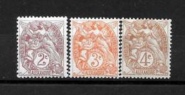 ALEXANDRIE Colonie : N° 2 à 4 **  TB  (cote 3,85 €) - Alexandrie (1899-1931)
