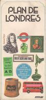 LONDRES - PLAN De La VILLE Et De Son CENTRE, PLAN De Ses ENVIRONS Et PLAN Du RÉSEAU De Son MÉTRO (1975) - Maps