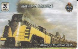 TARJETA DE ESTADOS UNIDOS DE UN TREN   (TRAIN-ZUG) AMERICAN RAILWAYS - Treni