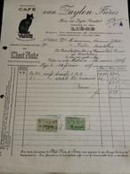 Facture, Tabacs Van Zuylen Frères Liège 1927 Avec Timbres - 1900 – 1949