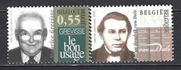 Belgique Yv 3338/9- Cob 3353/4 , Notre Langue- M.Grevisse-J.H.Van Dale  ** - Altri
