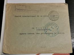 Enveloppe, Oblitéré Namur 1918. Cachet S. B. Festungslazarett Namur Envoyé à Genève - Guerra 14 – 18
