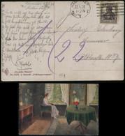 S0441 DR Infla Gemälde AK Postkarte:gebraucht Hannover 1920, Bedarfserhaltung. - Brieven En Documenten