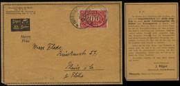 S0446 DR Infla Werbe Postkarte:gebraucht Biberach - Plaue 1923, Bedarfserhaltung. - Brieven En Documenten
