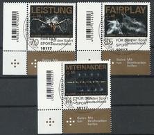 ALEMANIA 2017 - MI 3307/09 Für Den Sport - Used Stamps