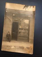 Ancienne Carte Postale Photo - Commerce Devanture De Magasin A L'aureole - Tiendas