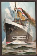 Amsterdam - Boot Met 10 Stadsgezichten In De Boeg - Amsterdam
