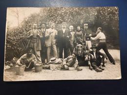 Ancienne Carte Postale Photo - Photo De Groupe Paris - Fotografía