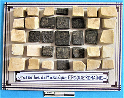 Tesselles De Mosaïque. Epoque Romaine. - Arqueología