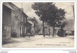 CPA 38 Gavet La Place Et La Chapelle Et Le Train Tramway Ligne De Grenoble à Bourg D'Oisans - Sonstige Gemeinden
