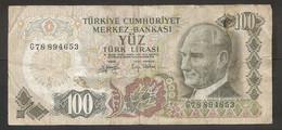 Turchia - Banconota Circolata Da 100 Lire P-189b - 1979 #18 - Turchia