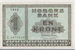 NORWAY P. 15a 1 K 1942 UNC - Noorwegen