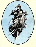 Gendarmerie - Motard  - Autocollant - Police