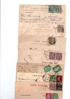 TIMBRES TYPE BLANC.....LOT DE 48 SUR CPA.......VOIR SCAN.....LOT 28 - 1900-29 Blanc