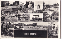 Mooi Drenthe - Hunnebed Ja-knikker Molen Schapen - Aan: De Jong Marrum - Holanda
