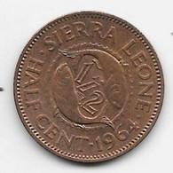 Sierra Leone 1/2 Cent 1964  Km 16 Bu/ms65 - Sierra Leone