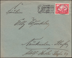504 Wagner EF Brief Werbestempel Richard-Wagner-National-Denkmal LEIPZIG 6.3.34 - Music