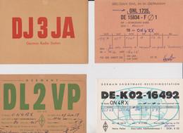 Germany, Allemagne,4 Cartes Radio Amateur QSL. - Radio Amatoriale