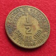 Peru 1/2 Sol 1946 KM# 220.5  Perou - Perú