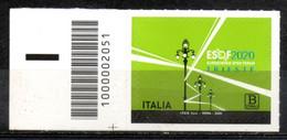 Italia 2020 - Esof EuroScience Open Forum Codice A Barre MNH ** - Codici A Barre