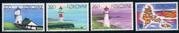 1985 FAROE LIGHTHOUSES AND MAP STAMP 4V - Lighthouses