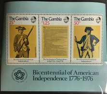 Gambia 1976 American Bicentennial Minisheet MNH - Gambia (1965-...)