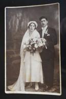 F181 Bride Groom Wedding Couple Brailita 1931 - Fotografía