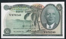 MALAWI P9c 50 TAMBALA 31.1.1975    XF-AU    NO P.h. ! - Malawi