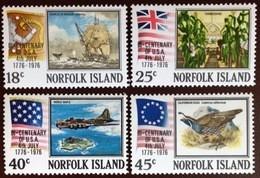 Norfolk Island 1976 American Bicentennial Aircraft Birds MNH - Norfolkinsel
