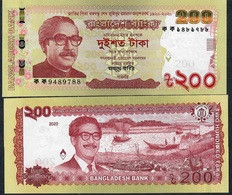 BANGLADESH NLP 200 TAKA 2020 COMMEMORATIVE 100th Birth Nation, Issued 11.3.2020       UNC. NO P.h. ! UNC. ! - Bangladesh