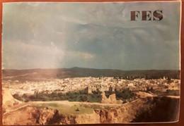 Depliant Touristique FEZ , Maroc + Azrou, Sidi Harazem, Sefrou, Carte Géographique  ,vues , Années 60 / 70, TB - Dépliants Turistici