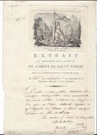 Comité De Salut Public, Section De La Guerre: 20 Fructidor An 2. Lazare Carnot, Charles Cochon - Historische Dokumente