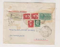 ITALY 1941 FIRENZE Registered Cover - Storia Postale
