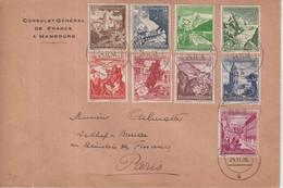 ALLEMAGNE : DU CONSULAT GENERAL DE FRANCE A HAMBOURG . POUR PARIS . 24/11/1938 . - Cartas