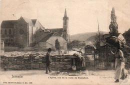 Jemelle Vue Sur La Route De Rochefort Animée Circulé En 1904 - Rochefort