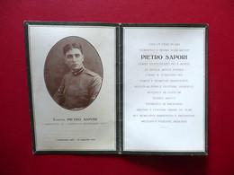 Mortino Tenente Pietro Sapori Comandante Compagnia Mitraglieri Fiat 1918 WW1 - Non Classificati