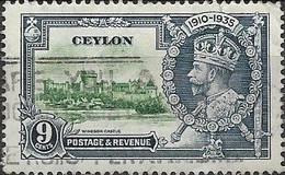 CEYLON 1935 Silver Jubilee - 9c - Green And Blue FU - Ceylon (...-1947)