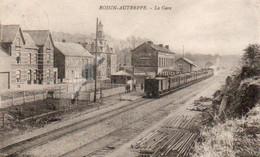 Roisin-Autreppe La Gare Avec Train Circulé En 1926 - Ath
