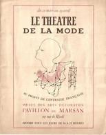 Le Théatre De La Mode - Couverture Illustration Jean Cocteau-  Paris 1945 - Programmes