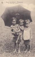 PHILIPPINES : Jeunes Enfants Sous Un Parapluie Mission Van Scheut - Philippines