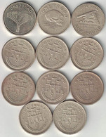 Gibraltar Collection Of 11x 1 Pound Coins 1988-2014 All Listed & Different - Gibilterra