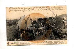 Carte Guerre 1914 Salonique Embarquement Cachet Poste Tresor - Grecia