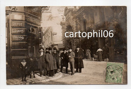 - CPA PHOTO MONACO Ou BEAUSOLEIL (06) - Belle Animation Devant La PHARMACIE G. VILLANOVA 1909 - - Monaco