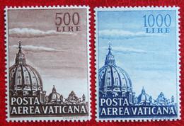 Koepel Sint Pieterskerk AIRMAIL 1953 Mi 205-206 Yv 22-23 POSTFRIS / MNH / ** VATICANO VATICAN VATICAAN - Vatican