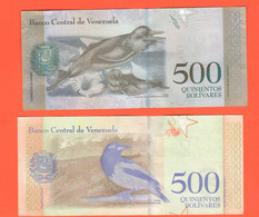 500 Bolivares Venezuela Quinientos 2 Banconote Differenti 2017 E 2018 Animali Animals - Venezuela
