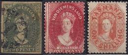 Tasmanie – Van Diemens Land : 3 Timbres - Mint Stamps
