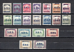 Yugoslavia  1918-19  .-  Y&T  Nº  1/5-8/11-13-15/18-19/24 - Used Stamps