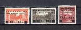 Yugoslavia  1919  .-  Y&T  Nº  105/107 - Gebruikt
